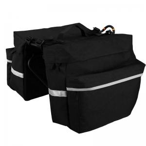 Bicycle delivery black bag