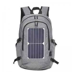 Solar backpack with solar panel charge