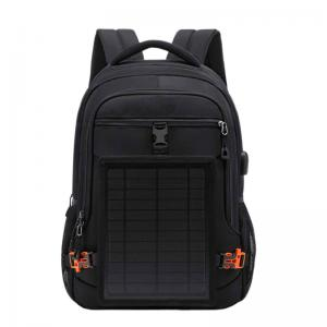 Solar backpack USB charging