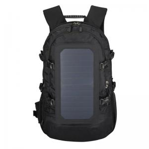 Solar backpack with panel charger
