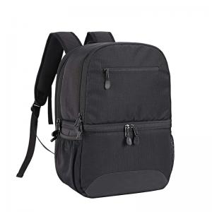 Insulated black cooler backpack