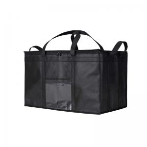Folding heated delivery bag