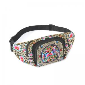 Retro embroidered  stylish fanny pack