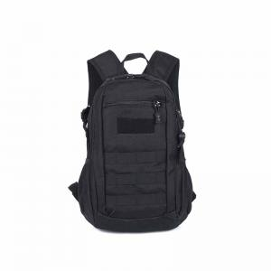 Black tactical gear backpack