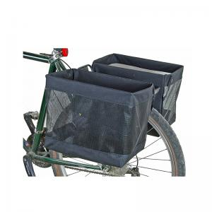 Bicycle rear rack basket bag