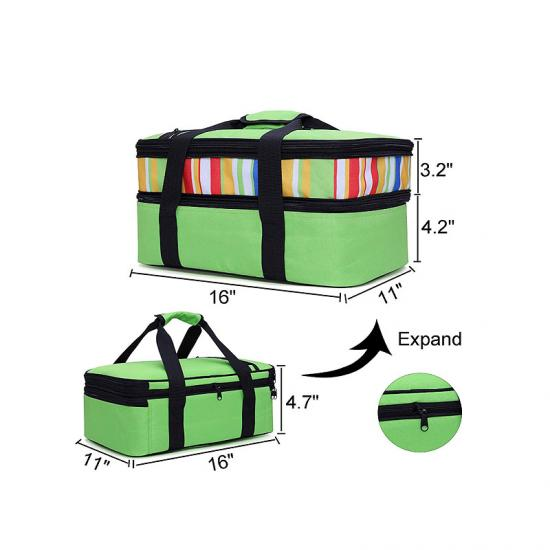 Insulated bags for food transport