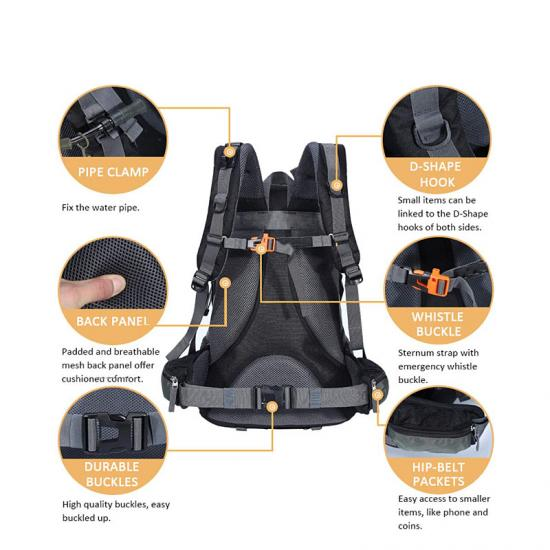 Waterproof trekking backpack