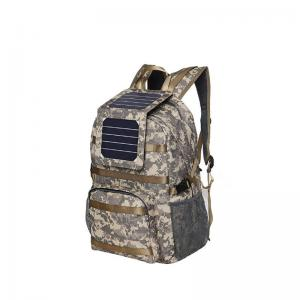 Solar hiking camo backpack