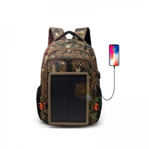 Waterproof solar camo backpack