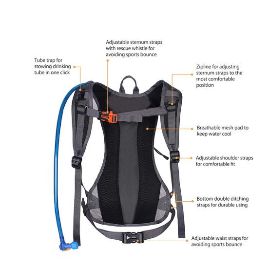 Running water backpack