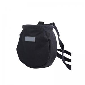 Black climbing chalk bag